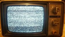 "Vintage Zenith AC/DC Yellow Retro TV Television Set Model NO92G Works 9"""