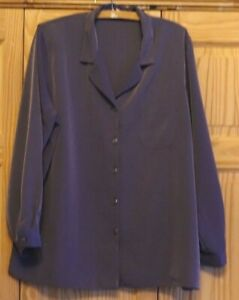 Stunning ANNA MORETTE Long Sleeve Heather Top Shirt Size 20