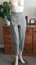 Vintage 1980's cream & black gingham trousers, swing, dance, 50s style, UK10/12