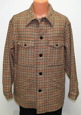 vtg Pendleton BROWN & BEIGE HOUNDSTOOTH Wool Jacket XL 70s Coat USA