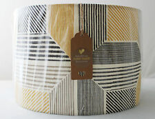 Handmade Custom IKEA Lampshade BIRKET/Drum Light Shade/40cm/Grey/Mustard/Yellow