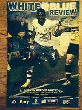 Bury v Oxford United  2013-14 Season - League 2 Football Programme