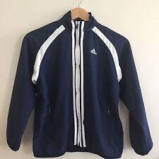 Adidas Boys Navy Full Zip Jacket, Size Small.