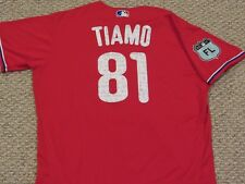 TIAMO #81 size 48 PHILLIES 2017 Spring Training Game used Jersey MLB HOLOGRAM