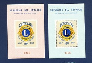 ECUADOR - Scott 771Bc perf & imperf S/S - VF MNH - Lions Club International 1968