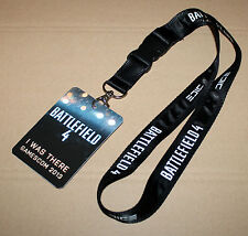 """Battlefield 4 """"I was there"""" Schlüsselband Lanyard with Card Gamescom 2013"""