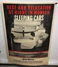 Original vintage Travel Poster Sleeping Cars New Haven Railroad