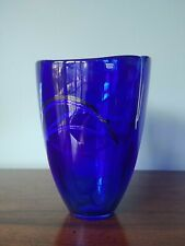 Kosta Boda Contrast Vase Blue ~ 8 inches Tall