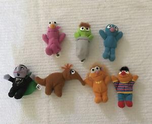 "X 7 Sesame Street McDonald's 2002 Beanbag Plush Stuffed 4"" Toys"