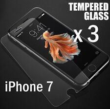 3 Pieces Total Tempered Glass Clear Screen Protector Film Guard - iPhone 7 / 8