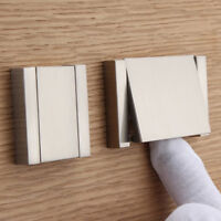 Useful Modern Home Invisible Flat Kitchen Cabinet Pull Handle Drawer Silver Knob