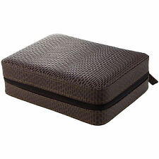 4 Watch Box Travel Case, Leather, Brown SnakeSkin LIMITED TIME SALE PRICE