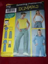 SIMPLICITY #9886 - SEWING FOR DUMMIES - PAJAMAS FOR TEENS PATTERN  3/4-9/10  FF