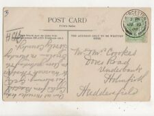 Mr & Mrs Cookes Dover Road Underbank Holmfirth Huddersfield 1908 658b