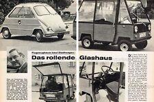 Dornier Hymer Delta II ciudad auto móvil Roller prototipo-original informe V. 1969