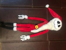 "Nightmare Before Christmas JACK SKELLINGTON SANTA 24"" Plush EXCLUSIVE Poseable"