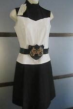 VINTAGE COVER GIRL OF MIAMI Dress 1960's MOD Size 8 Original Tags Poly Belt