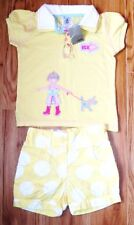 BNWT NEXT BABY GIRLS SUMMER SEASIDE POLO TOP & SHORTS 18-24 MTHS HOLIDAY PARTY