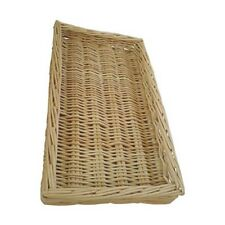 Natural Wicker Bread Basket Food Display Willow Serving Small Storage Tray