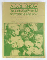 Vintage 1979 TRANSAMERICA PYRAMID Museum Doll Exhibition Show San Francisco flye