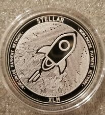 Stellar lumens xlm 1 oz .999 silver commemorative coin crypto currency bitcoin