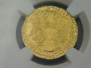 1787 EPHRAIM BRASHER HALF DOUBLOON PRIVATE ISSUE STRUCK 2011 .999 GOLD NGC-GEM