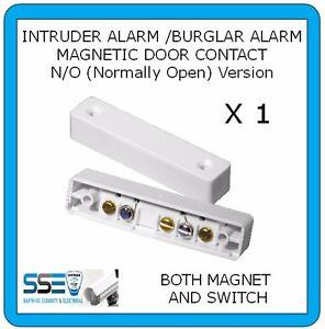 Burglar Alarm Door Contact - N/O (Normally Open) Switch and Magnet X1