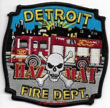 "*NEW*  Detroit  Haz Mat, Michigan  (4"" x 4"" size) fire patch"