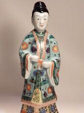 "Chinese China Guanyin Kwan Yin Famille Rose Style Porcelain 14"" Statue/Figure"