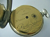luxury Breitling - Laederich 1860 0,925 silver pocket watch perfect enamel dial