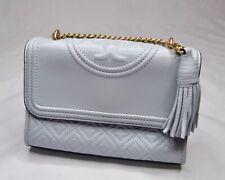 Tory Burch Fleming Small Convertible Shoulder Bag Blue Gold