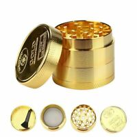 Herb Grinder Crusher Shredder 4 Piece Gold Tabacco Smoke MICHIGAN SELLER