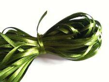 "5 Yards 6mm Deep Green Satin Ribbon Scrapbook Craft Wedding Embroid 1/4 "" Inch"