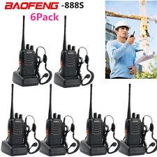 6 Pack Walkie Talkie Headset Two Way Radio 2 Long Range Security Patrol Police G