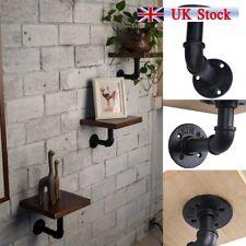 4pcs Industrial Steel Pipe Shelf Bracket Holder DIY Decor UK