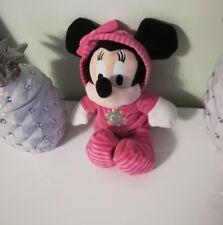 peluche doudou MINNIE pyjama rose capuche Disney NICOTOY 30 cm soleil noeud NEUF