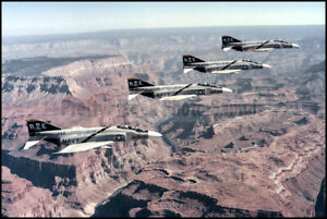 USN F-4 Phantom VF-84 Jolly Rogers Grand Canyon 1974 8x12 Photo