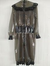 Latex Rubber Women Loose Gray Dress Suit Customizable Size XXS-XXL
