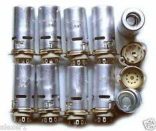 8x  9-pin  USSR Military TUBE SOCKETS 40mm. !!!NEW!!!