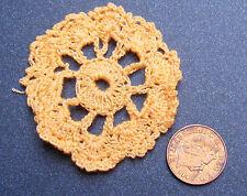 1:12 Scale Single Orange Round Crochet Doily Dolls House Miniature Accessory