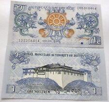 BHUTAN 1 NGULTRUM BANKNOTE 2006 UNC X1