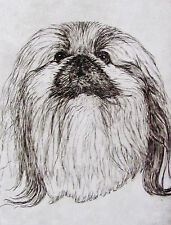 GEOFFREY LASKO - PEKINGESE DOG - LISTED ARTIST ORIGINAL ETCHING -S&N - FREE SHIP