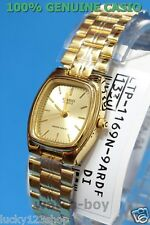 LTP-1169N-9A Casio Beige dial in Gold case Stainless Steel Watch Ladies Date