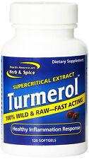 North American Herb & Spice Turmerol Turmeric Ginger & Wild Oregano 120 SOFTGELS
