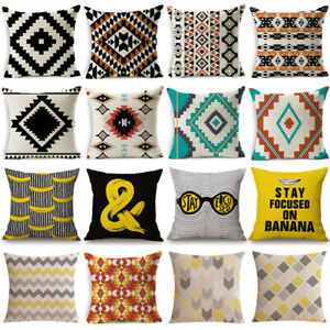 18''Geometric Boho Throw Cushion Cover Sofa Bed Car Waist Pillow Case Home Decor