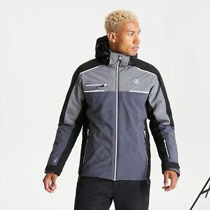 Dare 2B Men's Intermit II Waterproof Insulated Hooded Ski Jacket - Grey Black