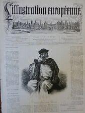 1876 HONGRIE VOYAGEUR PATRE PAYSAN LAZZARONE DESERT CROQUIS DELL'ACQUA