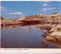 VINTAGE POSTCARD GOVERNOR'S WHARF PEGGY'S COVE NOVA SCOTIA CANADA 1970