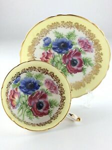 Vintage Pastel Yellow Paragon Fine Bone Chine England Teacup and Saucer R174