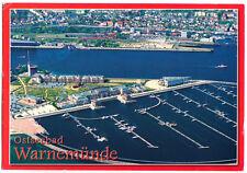 AK, Rostock Warnemünde, Luftbildansicht der Hafenanlagen, 2009